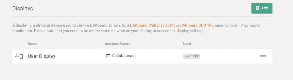 User Devices and Simple Device Linking – DAKboard
