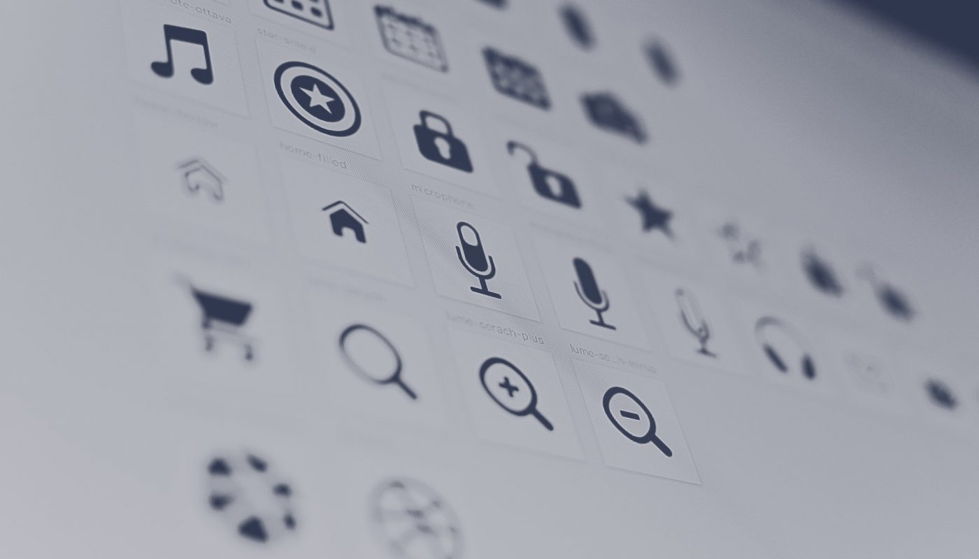 Photo of a grid listing of Icons